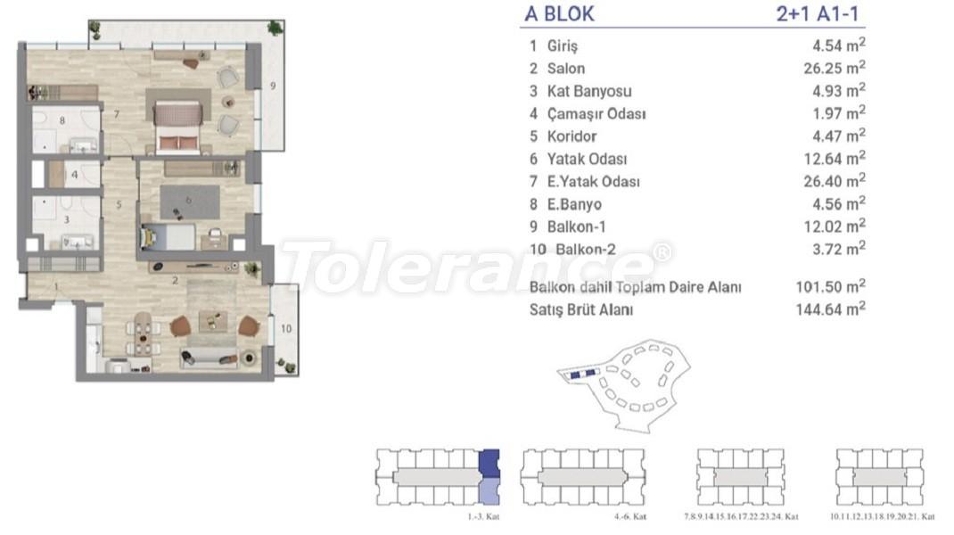 Квартиры в Эюпсултан, Стамбул в проекте с государственной гарантией - 36270 | Tolerance Homes