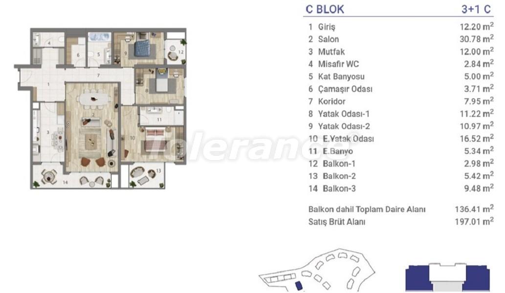 Квартиры в Эюпсултан, Стамбул в проекте с государственной гарантией - 36275 | Tolerance Homes