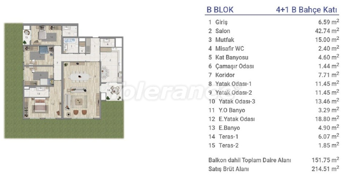 Квартиры в Эюпсултан, Стамбул в проекте с государственной гарантией - 36277 | Tolerance Homes