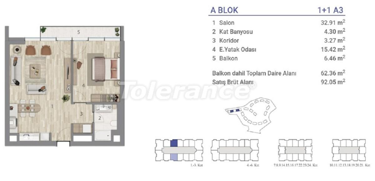 Квартиры в Эюпсултан, Стамбул в проекте с государственной гарантией - 36269 | Tolerance Homes