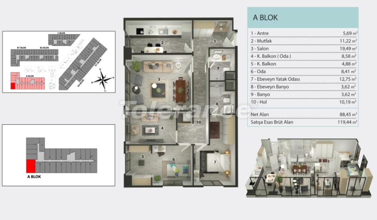 Квартиры в Кучукчекмедже, Стамбуле в рассрочку от застройщика - 36265 | Tolerance Homes