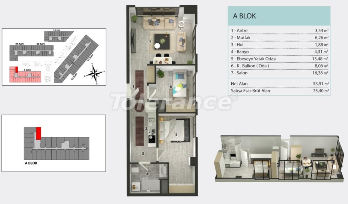 Квартиры в Кучукчекмедже, Стамбуле в рассрочку от застройщика - 36266 | Tolerance Homes
