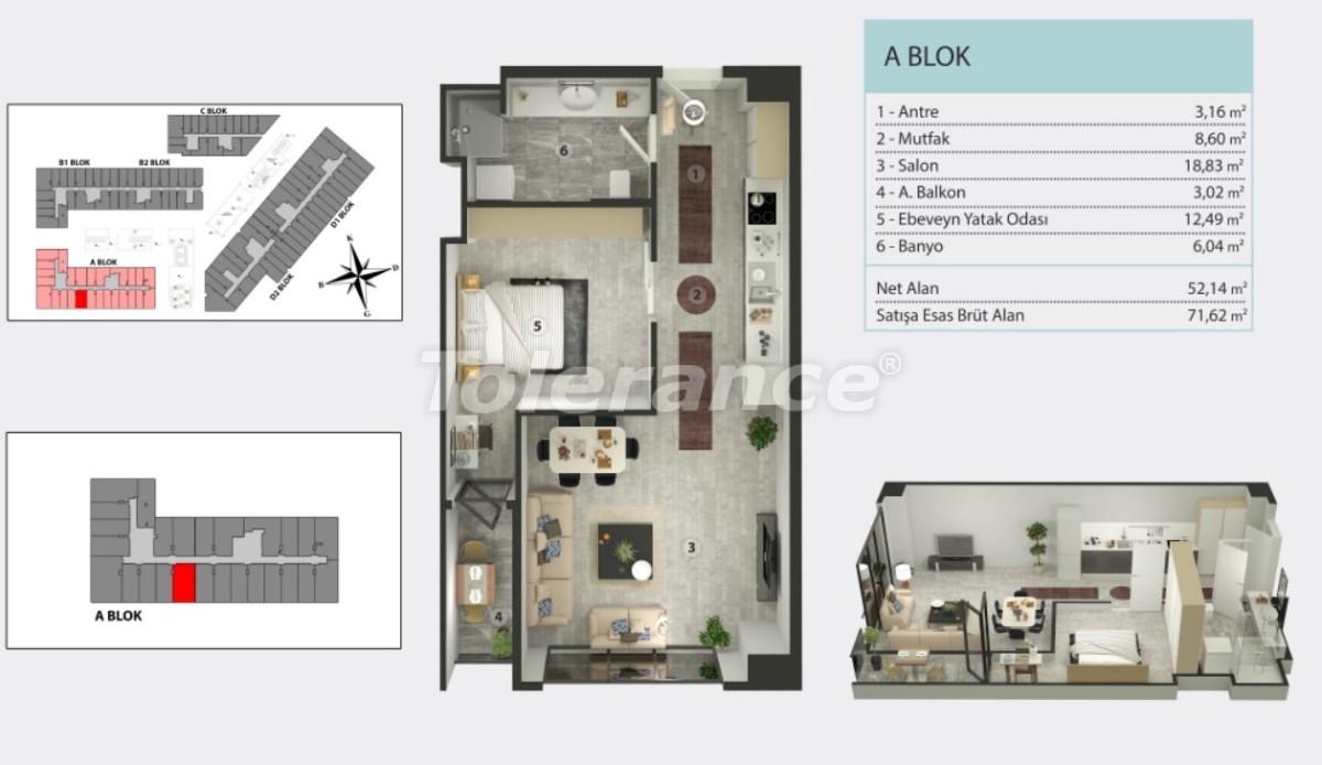 Квартиры в Кучукчекмедже, Стамбуле в рассрочку от застройщика - 36263 | Tolerance Homes