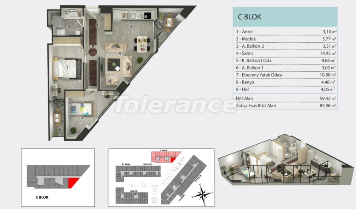 Квартиры в Кучукчекмедже, Стамбуле в рассрочку от застройщика - 36262 | Tolerance Homes