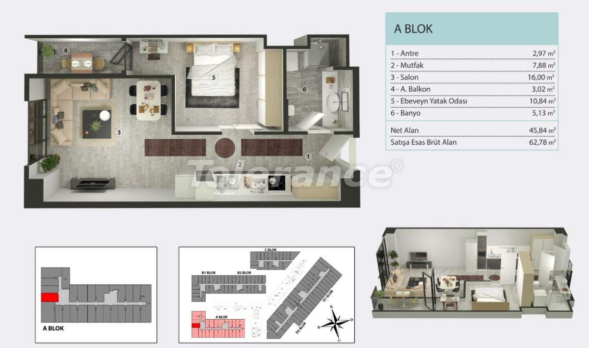 Квартиры в Кучукчекмедже, Стамбуле в рассрочку от застройщика - 36258 | Tolerance Homes