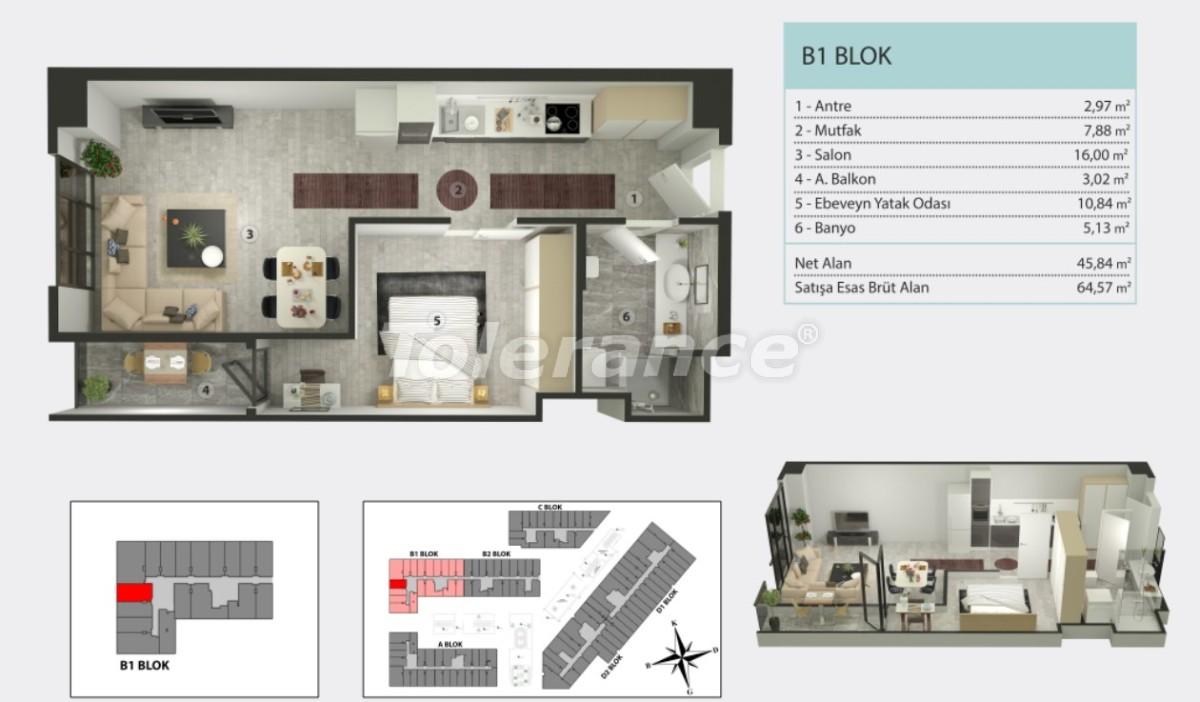 Квартиры в Кучукчекмедже, Стамбуле в рассрочку от застройщика - 36264 | Tolerance Homes