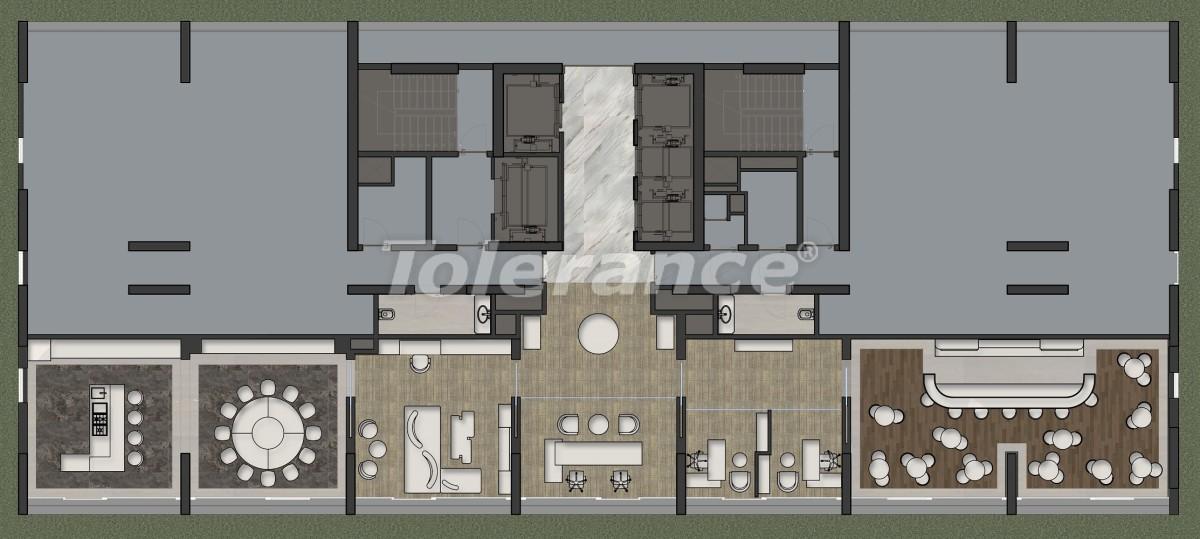 Апартаменты класса люкс в Кадыкёй, Стамбул в комплексе отельного типа с гарантией аренды на 3 года - 42087   Tolerance Homes