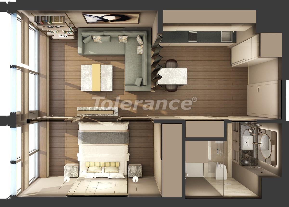 Апартаменты класса люкс в Кадыкёй, Стамбул в комплексе отельного типа с гарантией аренды на 3 года - 42082   Tolerance Homes