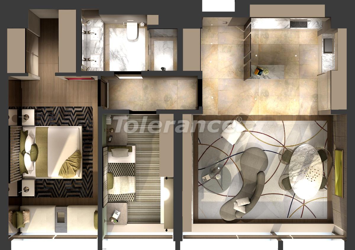 Апартаменты класса люкс в Кадыкёй, Стамбул в комплексе отельного типа с гарантией аренды на 3 года - 42084   Tolerance Homes