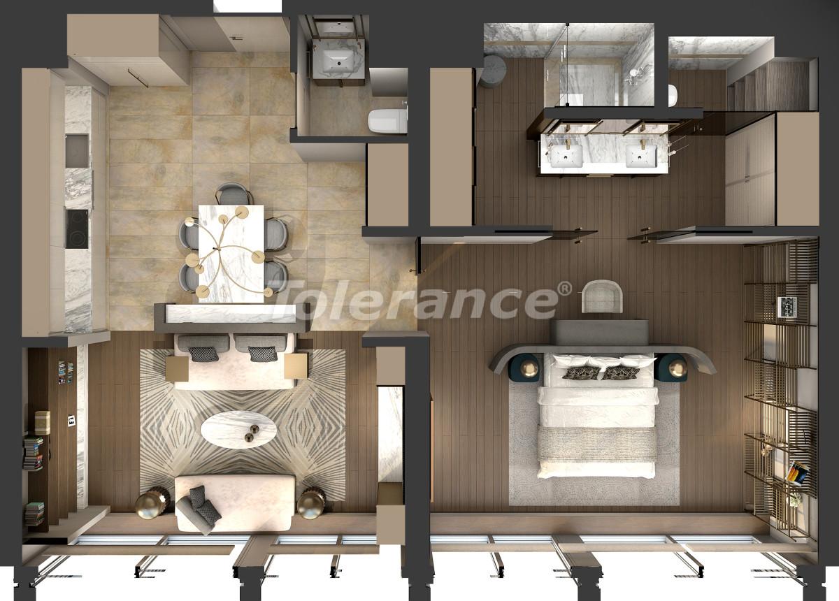 Апартаменты класса люкс в Кадыкёй, Стамбул в комплексе отельного типа с гарантией аренды на 3 года - 42083   Tolerance Homes