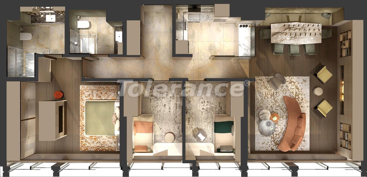 Апартаменты класса люкс в Кадыкёй, Стамбул в комплексе отельного типа с гарантией аренды на 3 года - 42085   Tolerance Homes