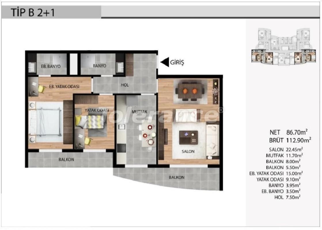 Недорогие квартиры в Эсеньюрте, Стамбул выгодные для инвестиций с рассрочкой до 1 года - 39030 | Tolerance Homes