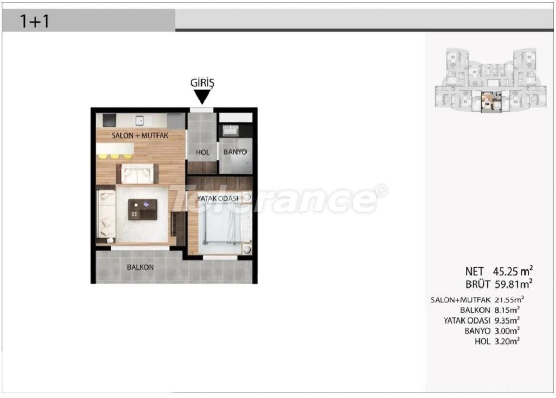 Недорогие квартиры в Эсеньюрте, Стамбул выгодные для инвестиций с рассрочкой до 1 года - 39028 | Tolerance Homes