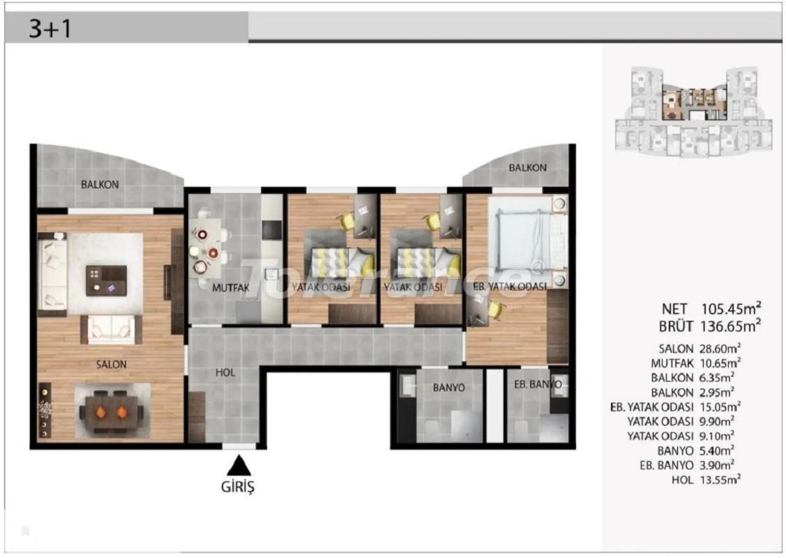Недорогие квартиры в Эсеньюрте, Стамбул выгодные для инвестиций с рассрочкой до 1 года - 39031 | Tolerance Homes