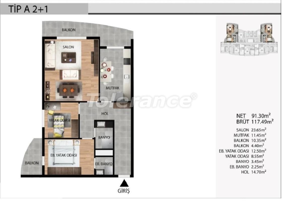 Недорогие квартиры в Эсеньюрте, Стамбул выгодные для инвестиций с рассрочкой до 1 года - 39029 | Tolerance Homes