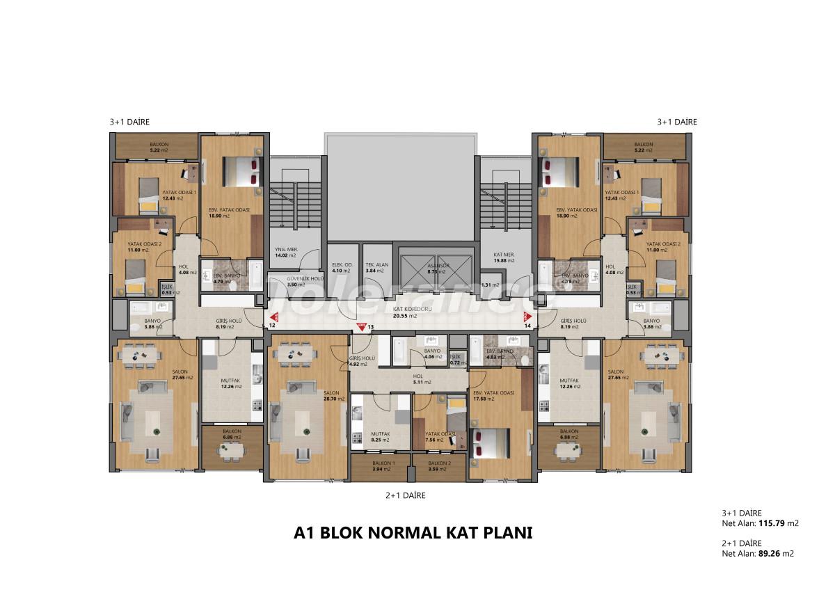 Современные апартаменты в Бейликдюзю, Стамбул выгодные для инвестиций с возможностью получения гражданства - 39092   Tolerance Homes