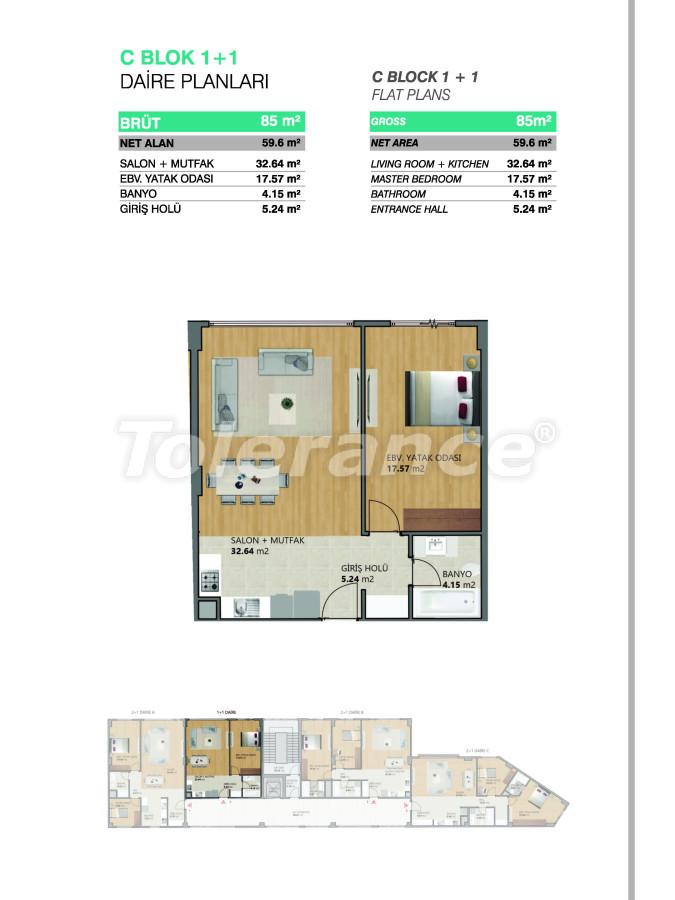 Современные апартаменты в Бейликдюзю, Стамбул выгодные для инвестиций с возможностью получения гражданства - 39075   Tolerance Homes