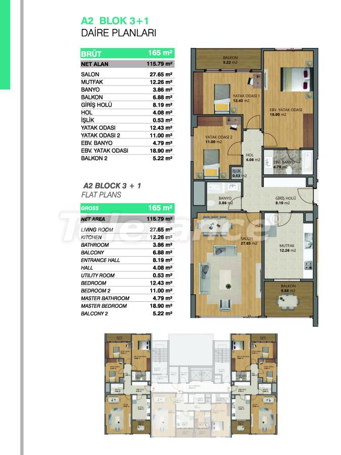 Современные апартаменты в Бейликдюзю, Стамбул выгодные для инвестиций с возможностью получения гражданства - 39086   Tolerance Homes