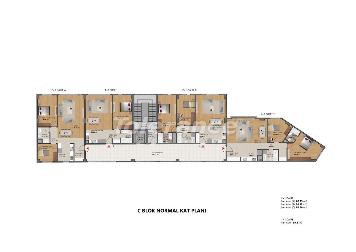 Современные апартаменты в Бейликдюзю, Стамбул выгодные для инвестиций с возможностью получения гражданства - 39098   Tolerance Homes