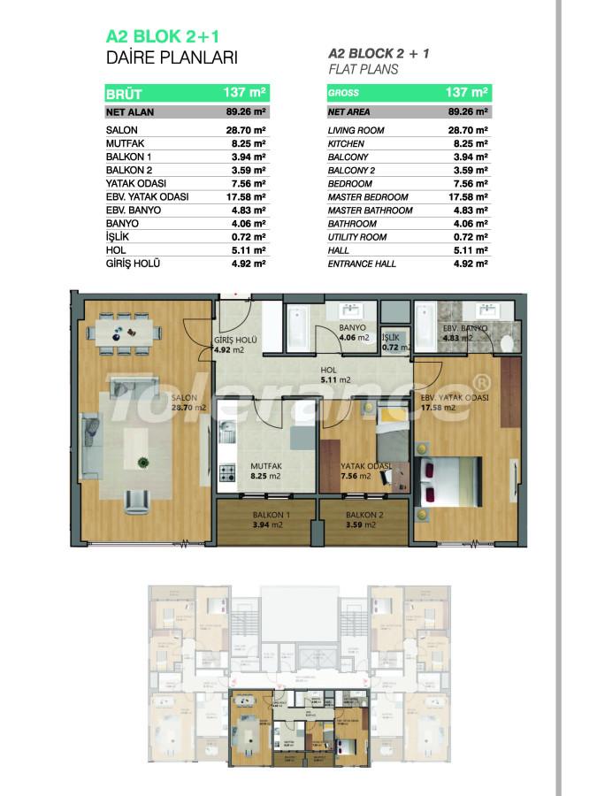 Современные апартаменты в Бейликдюзю, Стамбул выгодные для инвестиций с возможностью получения гражданства - 39071   Tolerance Homes