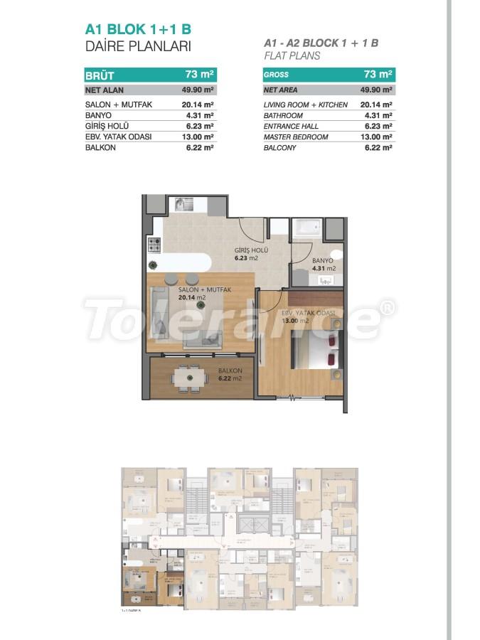 Современные апартаменты в Бейликдюзю, Стамбул выгодные для инвестиций с возможностью получения гражданства - 39069   Tolerance Homes