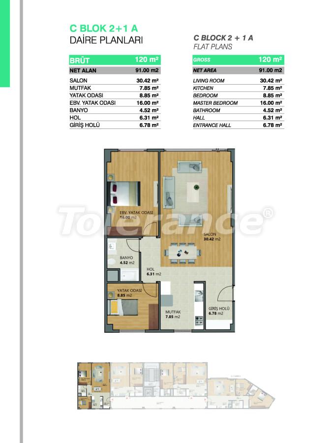Современные апартаменты в Бейликдюзю, Стамбул выгодные для инвестиций с возможностью получения гражданства - 39076   Tolerance Homes