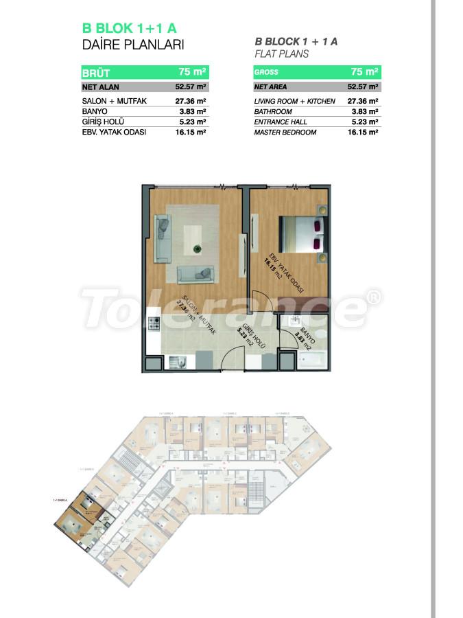 Современные апартаменты в Бейликдюзю, Стамбул выгодные для инвестиций с возможностью получения гражданства - 39072   Tolerance Homes