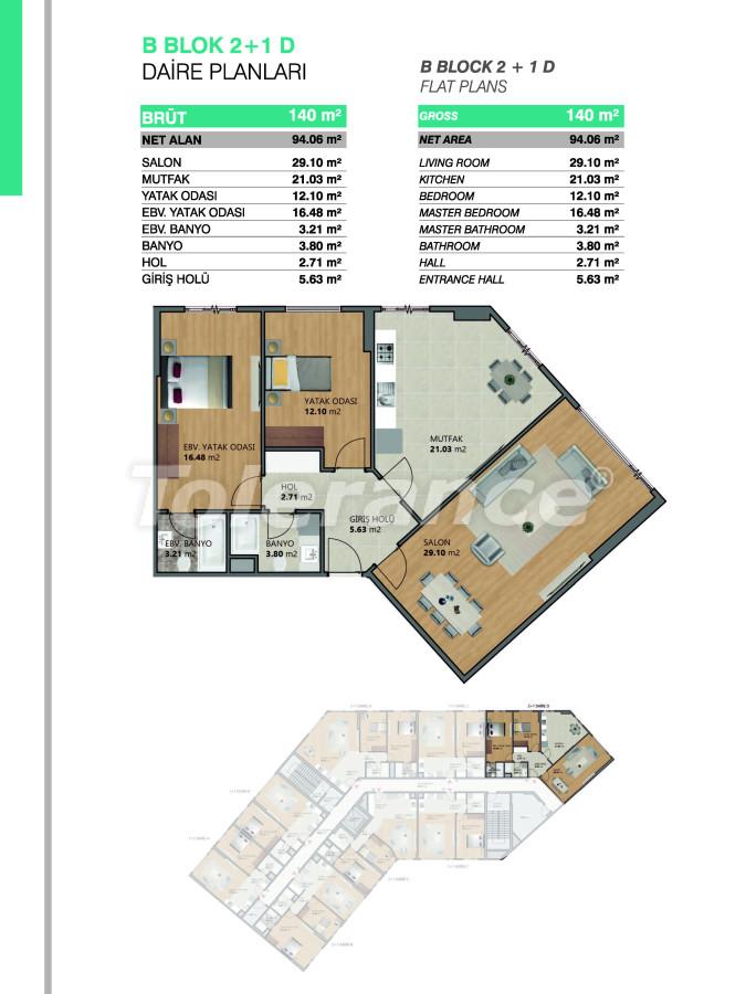 Современные апартаменты в Бейликдюзю, Стамбул выгодные для инвестиций с возможностью получения гражданства - 39074   Tolerance Homes