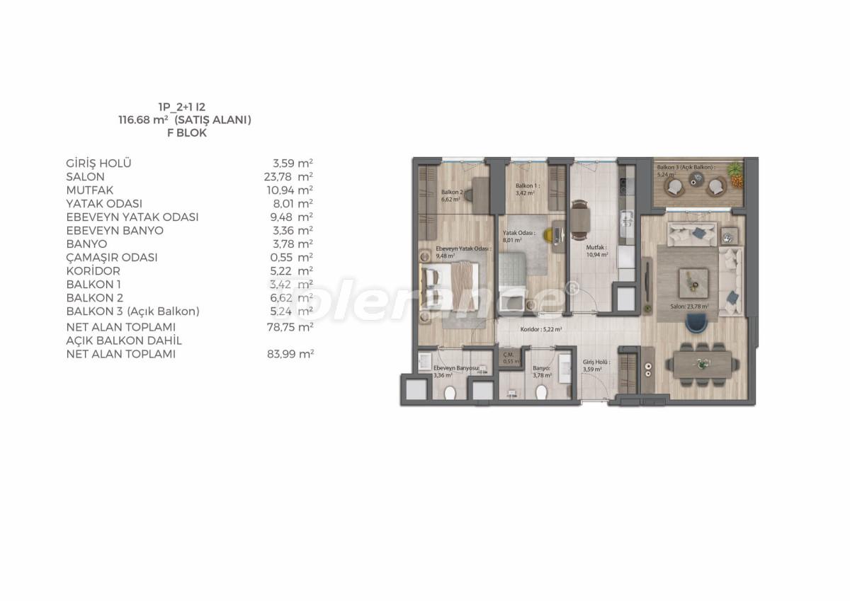 Современный комплекс с квартирами в Бахчешехире, Стамбуле в рассрочку на 9 лет от застройщика - 39079   Tolerance Homes