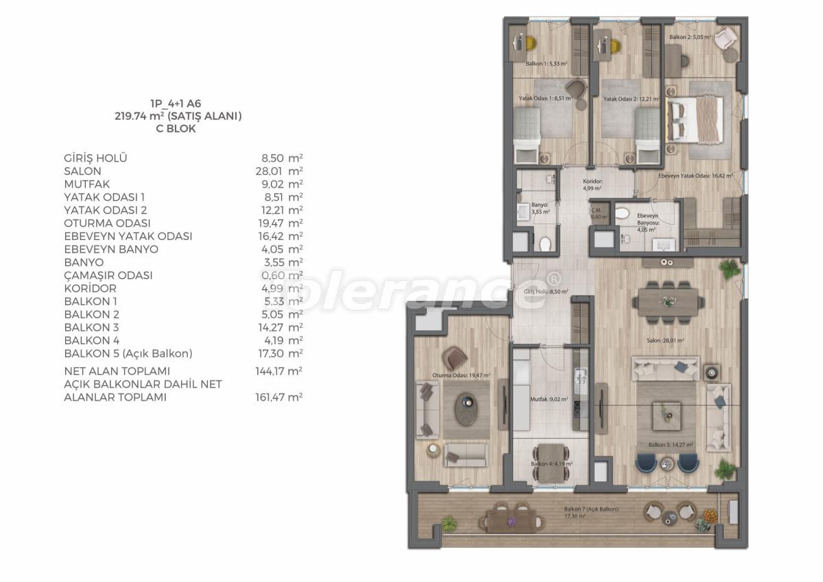 Современный комплекс с квартирами в Бахчешехире, Стамбуле в рассрочку на 9 лет от застройщика - 39084   Tolerance Homes
