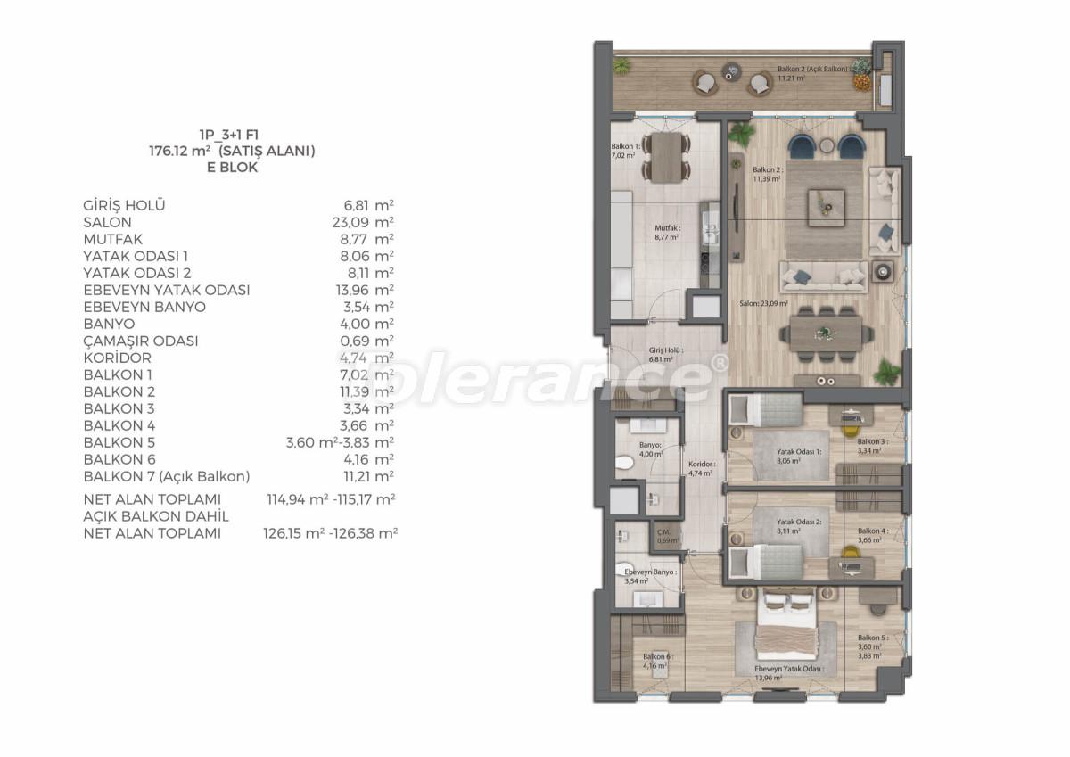 Современный комплекс с квартирами в Бахчешехире, Стамбуле в рассрочку на 9 лет от застройщика - 39082   Tolerance Homes