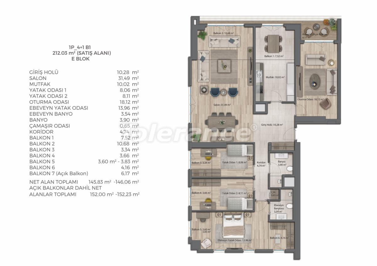 Современный комплекс с квартирами в Бахчешехире, Стамбуле в рассрочку на 9 лет от застройщика - 39083   Tolerance Homes