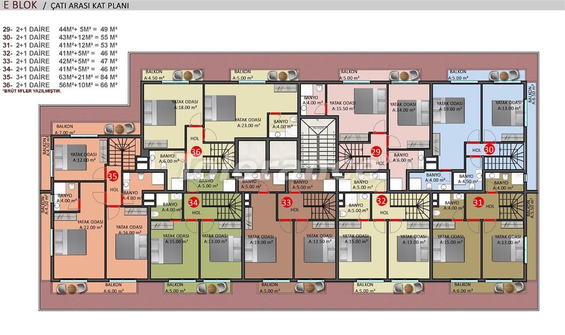 Элитные апартаменты в Оба, Алания в комплексе с бассейном - 39260   Tolerance Homes