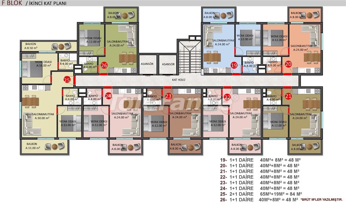 Элитные апартаменты в Оба, Алания в комплексе с бассейном - 39257   Tolerance Homes