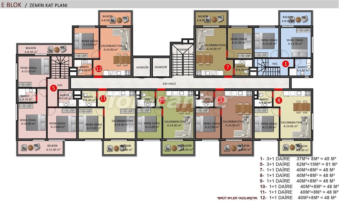 Элитные апартаменты в Оба, Алания в комплексе с бассейном - 39246   Tolerance Homes