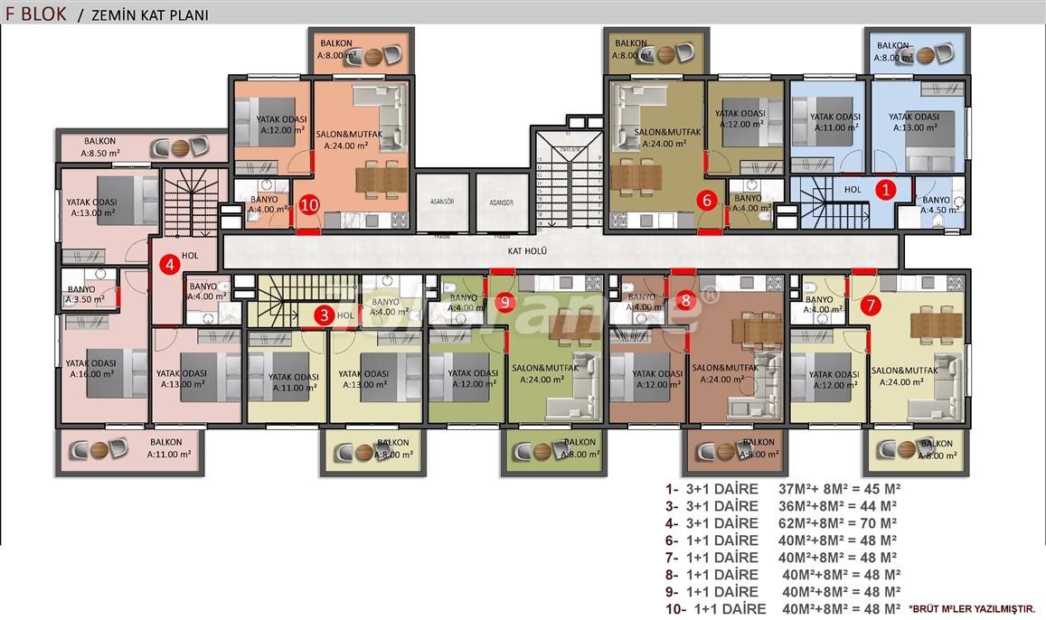 Элитные апартаменты в Оба, Алания в комплексе с бассейном - 39247   Tolerance Homes