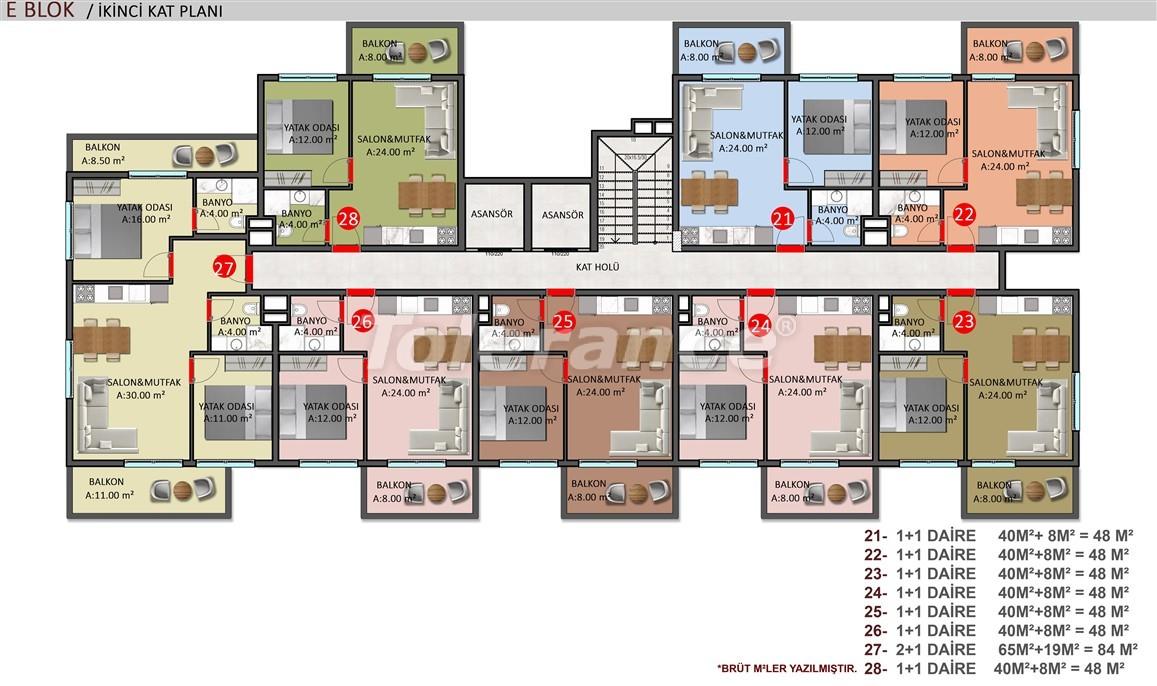 Элитные апартаменты в Оба, Алания в комплексе с бассейном - 39256   Tolerance Homes