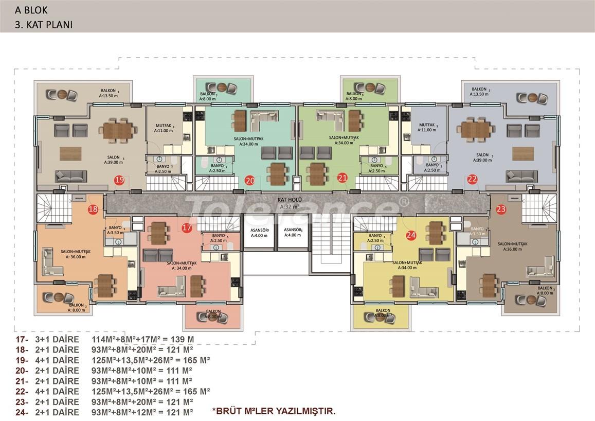 Элитные апартаменты в Оба, Алания в комплексе с бассейном - 39258   Tolerance Homes