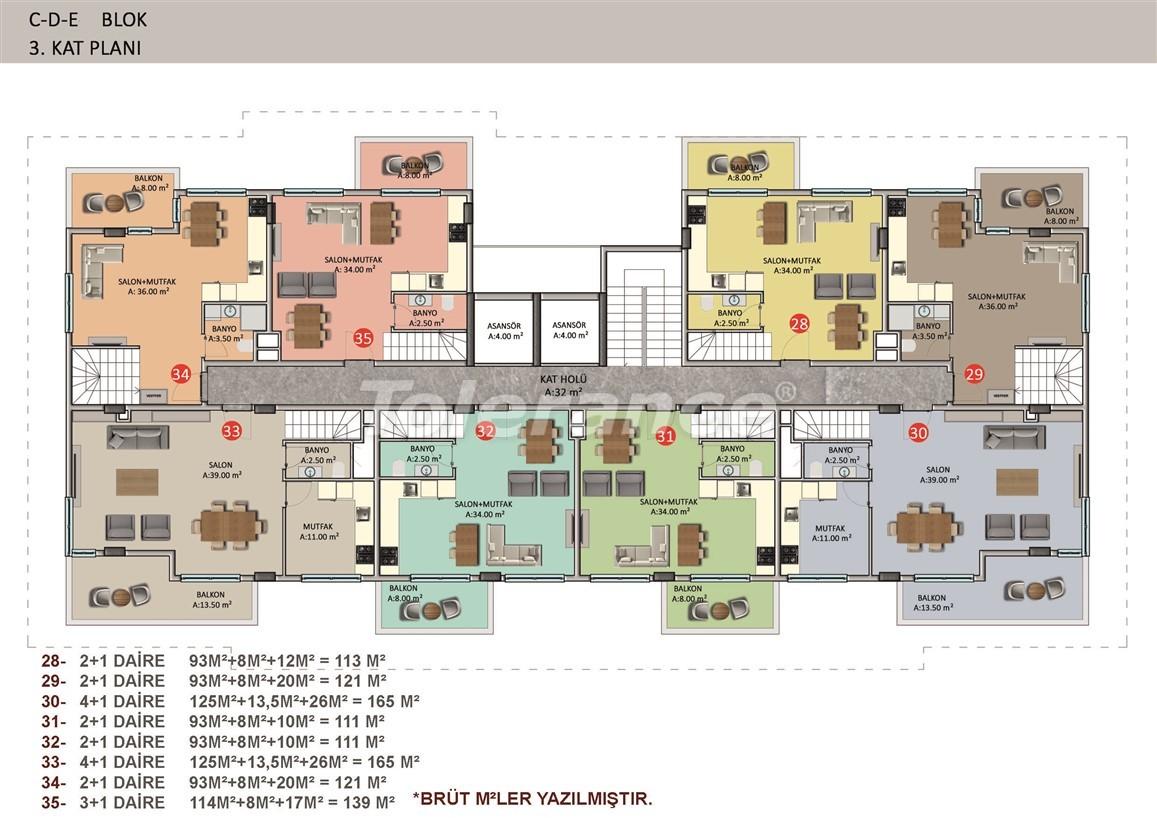 Элитные апартаменты в Оба, Алания в комплексе с бассейном - 39259   Tolerance Homes