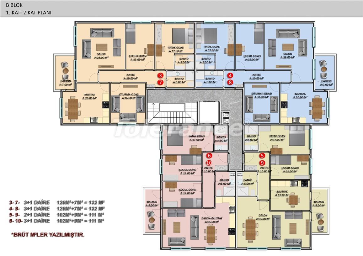 Элитные апартаменты в Оба, Алания в комплексе с бассейном - 39250   Tolerance Homes