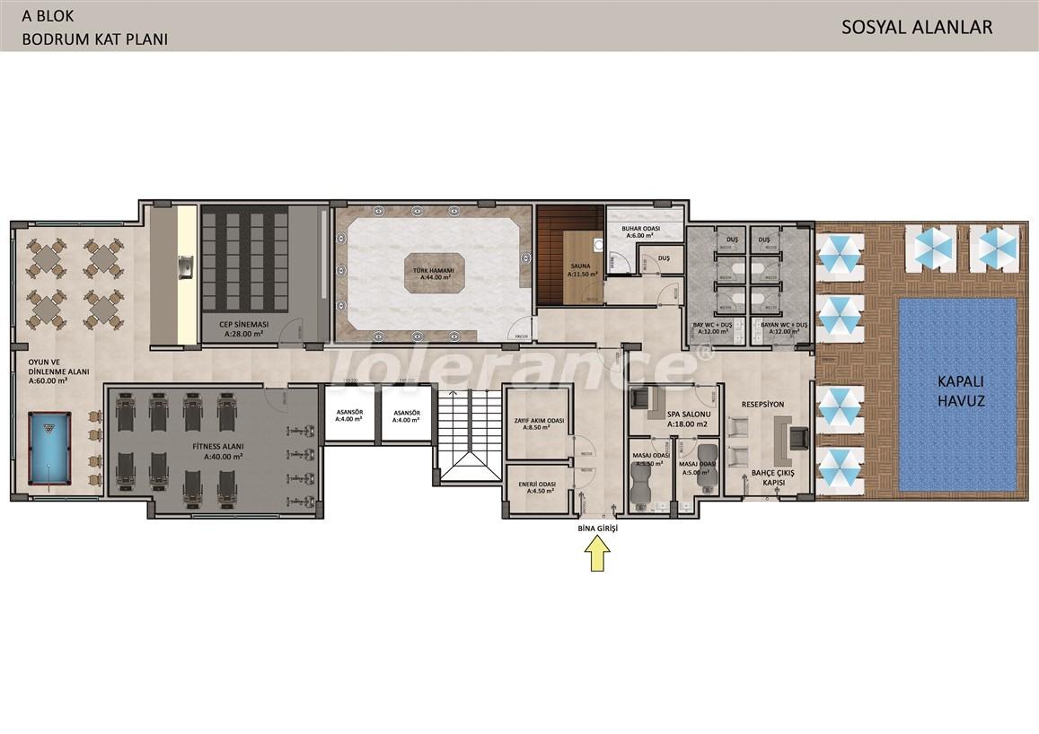 Элитные апартаменты в Оба, Алания в комплексе с бассейном - 39244   Tolerance Homes