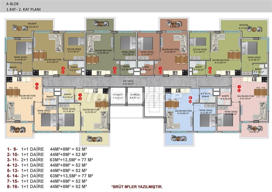 Элитные апартаменты в Оба, Алания в комплексе с бассейном - 39254   Tolerance Homes