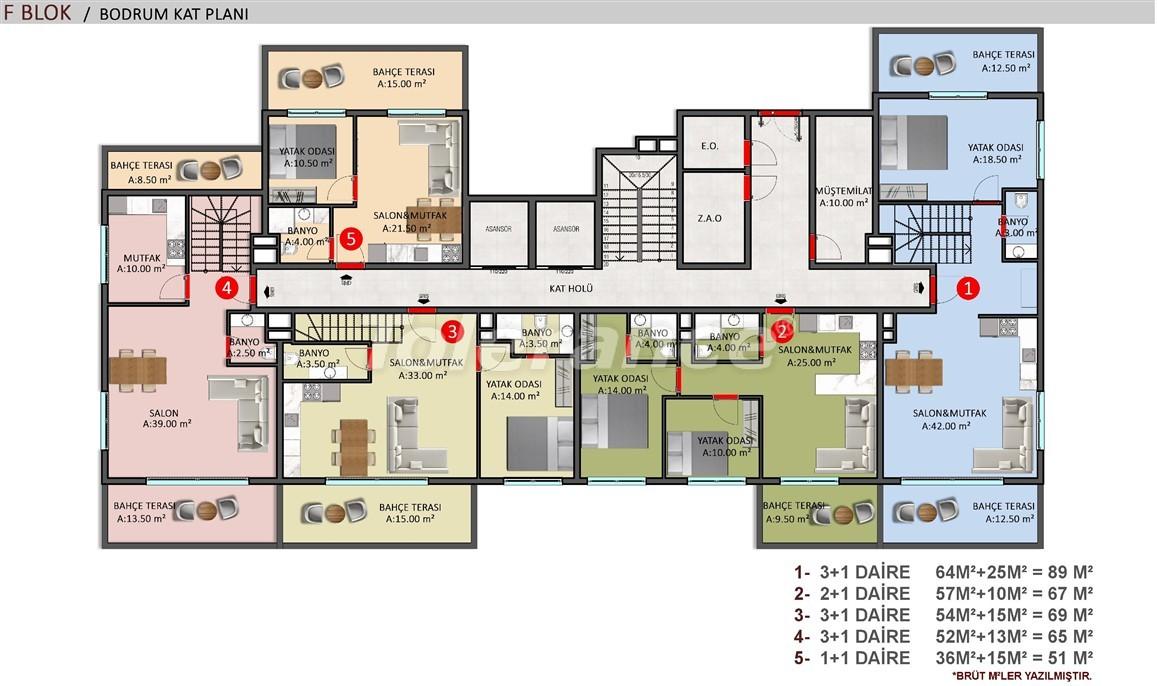 Элитные апартаменты в Оба, Алания в комплексе с бассейном - 39243   Tolerance Homes