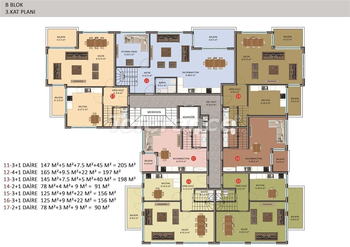 Элитные апартаменты в Оба, Алания в комплексе с бассейном - 39255   Tolerance Homes