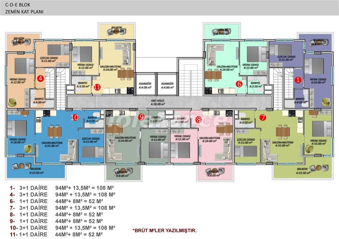 Элитные апартаменты в Оба, Алания в комплексе с бассейном - 39249   Tolerance Homes