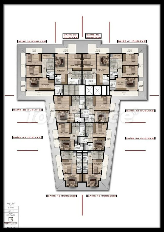 Современные квартиры в Оба, Алания в рассрочку от надежного застройщика - 39396 | Tolerance Homes