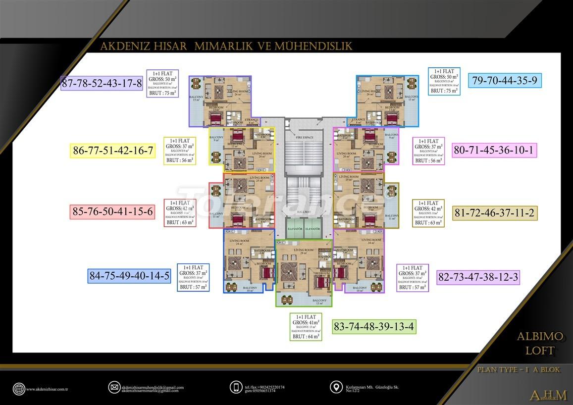 Квартиры  в Махмутларе, Алания в комплексе с обширными удобствами - 39512   Tolerance Homes