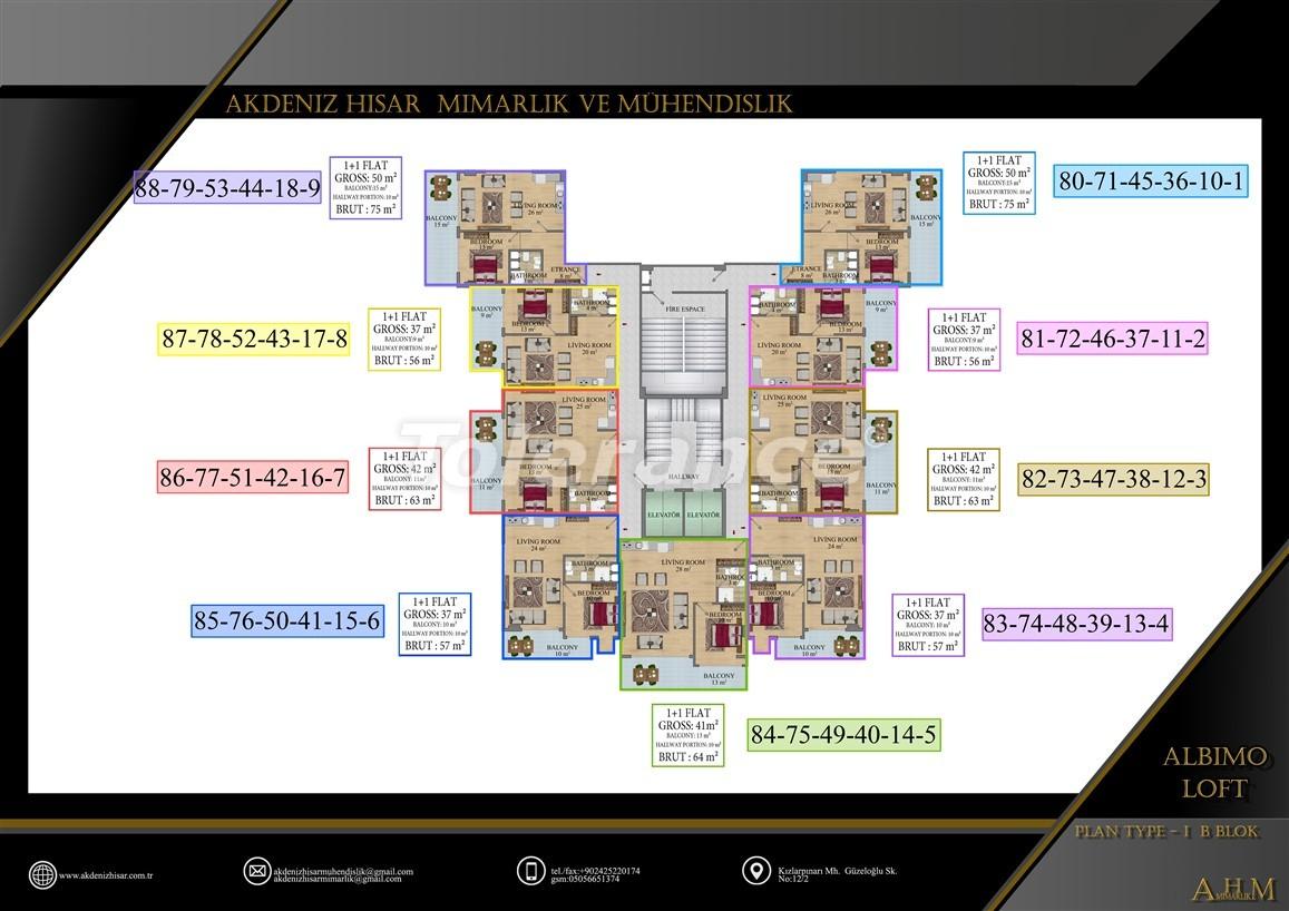 Квартиры  в Махмутларе, Алания в комплексе с обширными удобствами - 39513   Tolerance Homes