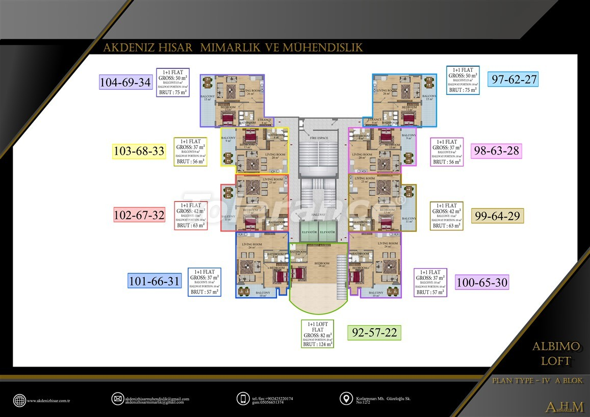 Квартиры  в Махмутларе, Алания в комплексе с обширными удобствами - 39516   Tolerance Homes
