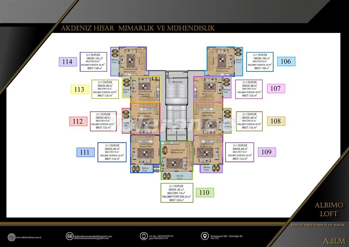 Квартиры  в Махмутларе, Алания в комплексе с обширными удобствами - 39519   Tolerance Homes